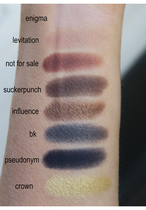 Urban Decay Basquiat Gold Griot swatches