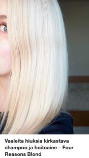 Vaaleat hiukset Ostolakossa