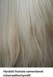 Mineraalikertymät pois hiuksista
