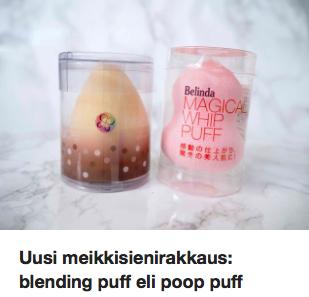 Blending puff Ostolakossa