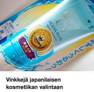 Vinkit japanilaiset kosmetiikan ostamiseen Ostolakossa