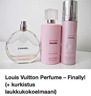 Louis Vuitton laukku hajuvesi Ostolakossa
