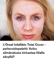 Loreal Infallible Totav Cover peiteainepaletti