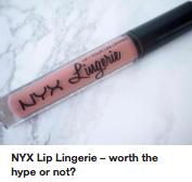 Nyx Lip Lingerie kokemuksia
