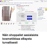 Ebay shoppailu ostolakossa