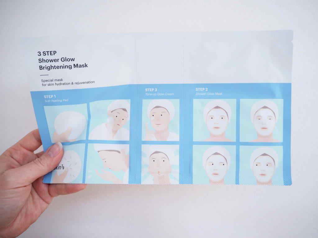 Skin79 3 Step Showe Glow mask -