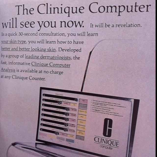 Cliniquen mainos vuodelta 1977.