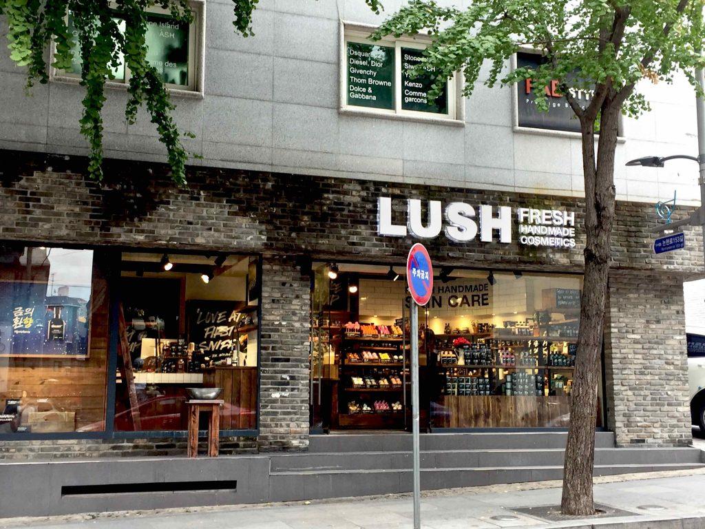 Garosu-Gil Cosmetic shopping LUSH - 1