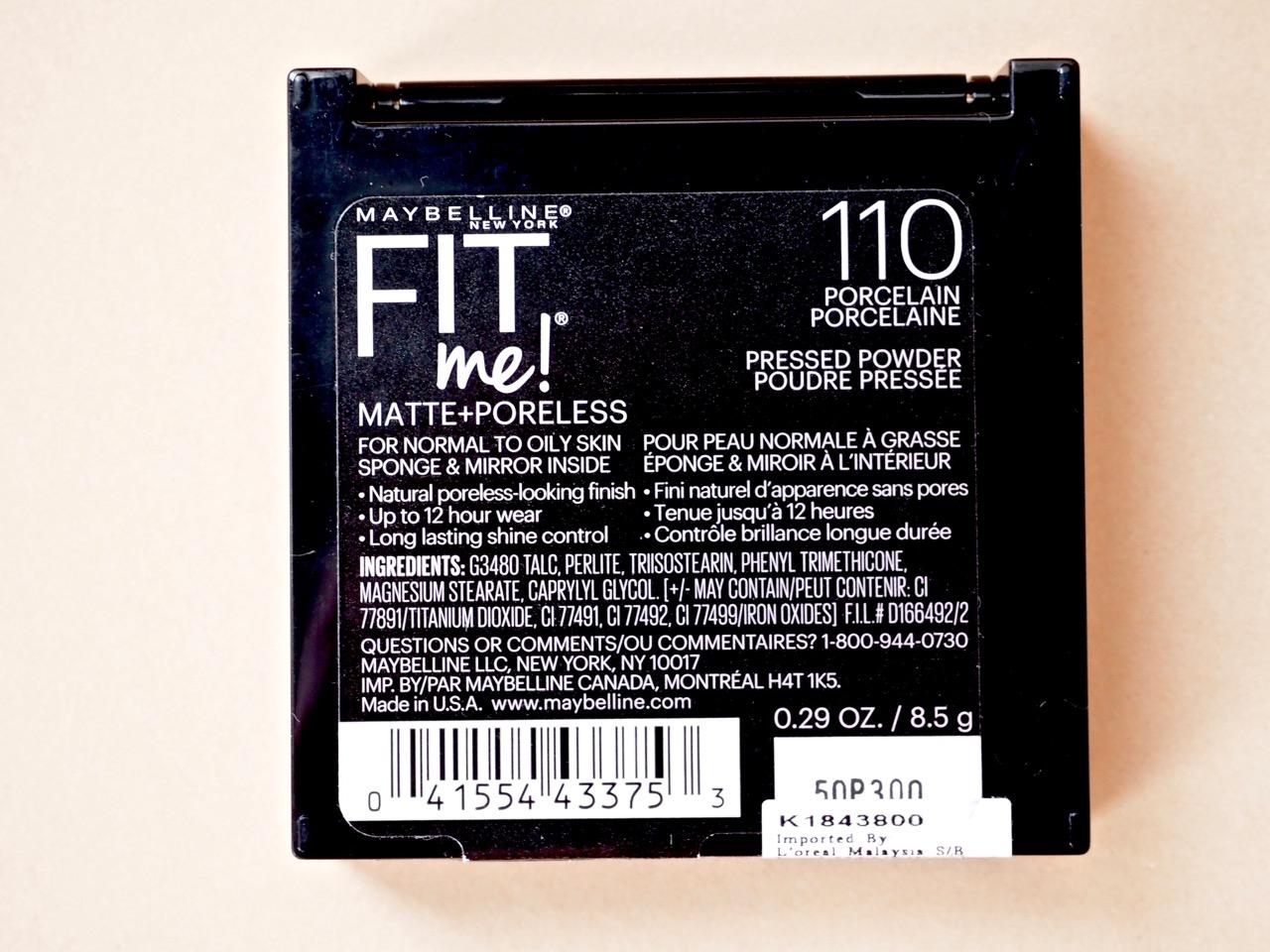 Maybellinen Fit Me Matte+Poreless Powder Puuteri Kokemuksia