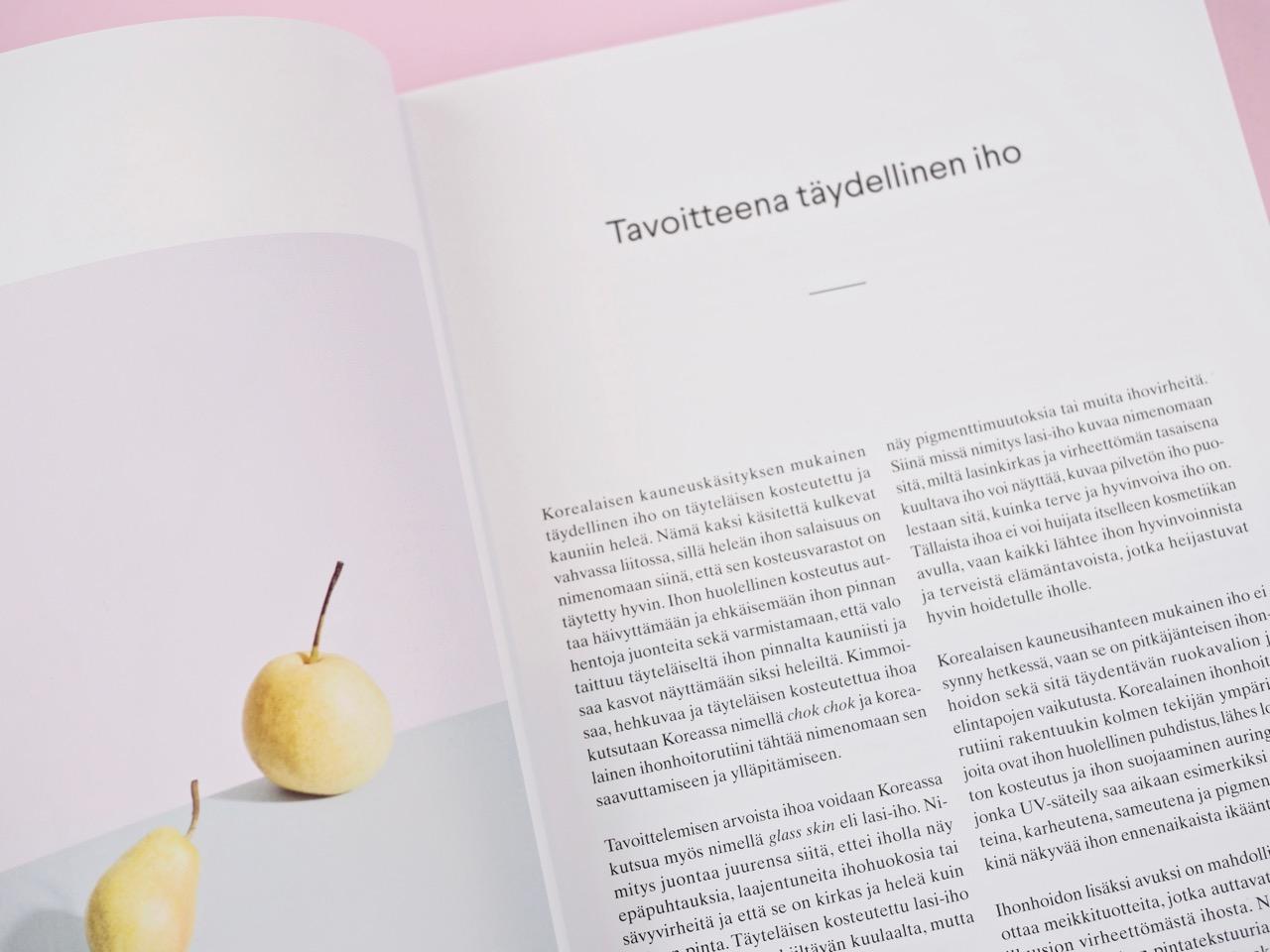 Täydellinen iho opas korealaiseen ihonhoitoon kirja Virve Fredman