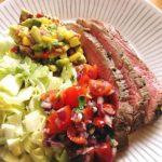 Limemarinoitu flank steak uunissa