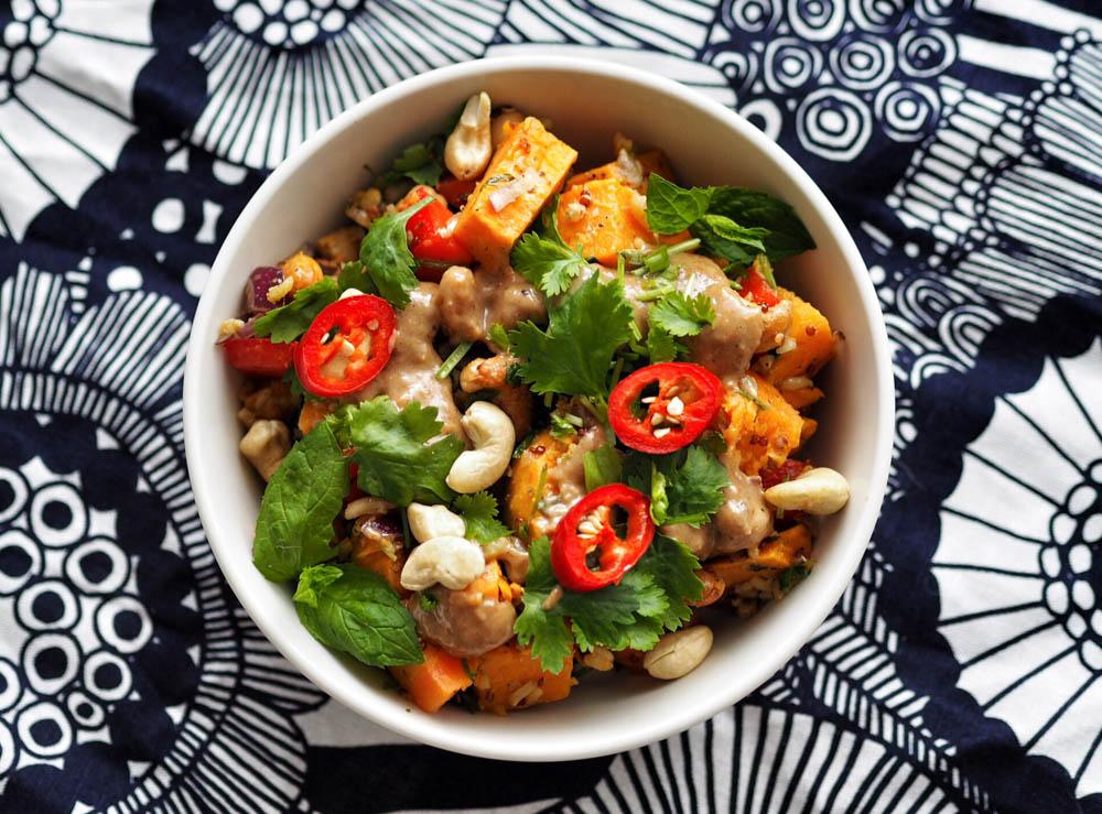 marokkolainen bataattisalaatti