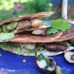 Herkulliset kasvis-quesadillat avokado-sienitäytteellä (vg)