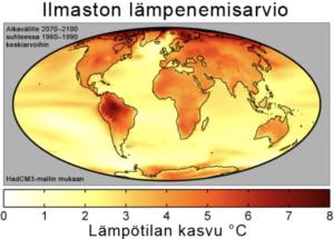 ilmaston lämpeneminen