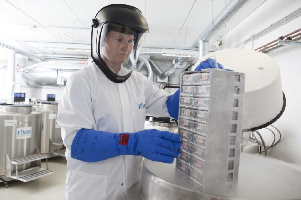 Biopankkinäytteiden säilytystila Meilahden kampuksella